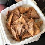 Crispy cinnamon churro chips- delicious!
