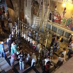 Tourists in the Church of the Holy Sepulcher