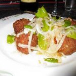 Famous meatballs with peppers and onions