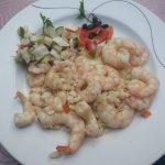 Shrimp with garlic