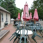 Weather permitting, pleasant outside seating available