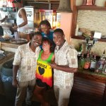 Friendly beach bar staff