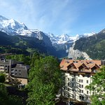 View down the Lauterbrunnen Valley from our room.