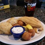 fried catfish. the buscuits ate great!