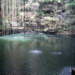 Empty Cenote for a private swim! Before the crowds!