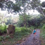 cemented trail to asah waterfall