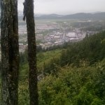 From the top of the mountain, you get a wonderful view of Juneau.
