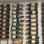 Wall of wine in our dining room