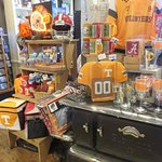 Tennessee Volunteers memorabilia for sale in the country store
