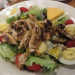 Entree salad with grilled chicken and deviled eggs