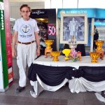 Funerary memorial to Thai King Bhumibol Adulyadej who died on Oct. 13, 2016. Mochit Station.