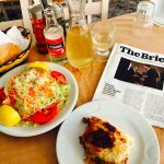 The ideal lazy lunch with a magazine