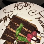 Complimentary dessert for our celebration.