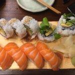 Hampstead roll and Salmon sashimi