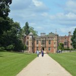 The impressive approach to Charlecote