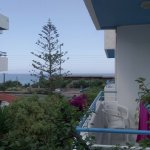 View of sea from side of apartment