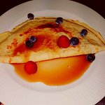 Pancakes available with sweet or savoury toppings