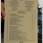 Alcove drinks menu