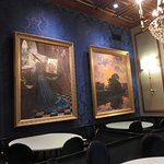 Alcove dining area paintings