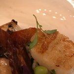 Seared sea scallops - slightly bland!