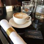 Cappuccino at the Plum & Spilt Milk restaurant