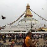 Morning at the stupa.