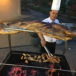 BBQ buffet: whole lamb BBQ
