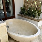 Our outdoor bathtub