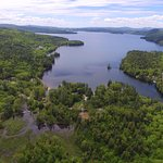 Newfound Lake pic taken by drone at Coppertoppe