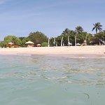 Nusa Dua beach - Hotel Sunbeds area