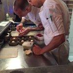 Chef's plating dessert.