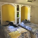 Casita inside, comfortable beds, good A/C and nice shower.