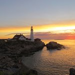 The lighthouse at sunrise