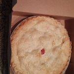 rhubarb pie, Hare & Hound, Landrum, SC, June 2017