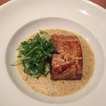 Outstanding... crayfish & lemon risotto and mushroom Wellington with Brie sauce
