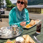 Lunch at the Clachan overlooking the Loch.