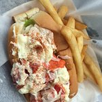 There is some tasty lobster under all those globs of mayonnaise.....