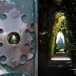 Key Hole, beautiful view of St. Peter's Dome at the Knight's of the main door at Aventino