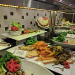 Salad buffet in the main restaurant