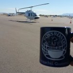 Coffee mug with Helicopter in the morning