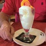 le choix entre le dessert aussi , sorbet au citron arrosé