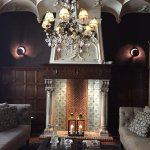 The lovely fireplace in the entrance hall