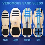 Full line of Sand Sleds for rent or sale at Sand Master Park