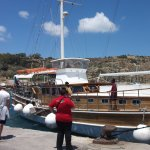 This is a photo of the yacht on our return from the bus trip around gozo .