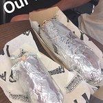 Baby burrito and daddy burrito!
