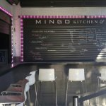 Mingo Kitchen Bar. Outside patio. Mingo's is located in the upcoming Las Vegas Art's District.