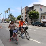 Riding across the Santa Monica and Venice Beaches, you get to see many beautiful sights.