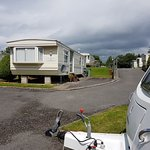 Looking up from our caravan are the statics all neat and tidy and the people are very friendly