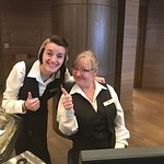 Shania and Kelly at the front desk of The Coeur d'Alene Resort made our trip extra special.