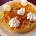 Peach Belgain Waffle